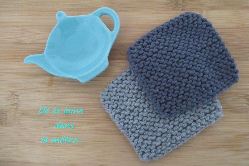 finir les restes de laine 1 les sous tasses en tricot. Black Bedroom Furniture Sets. Home Design Ideas