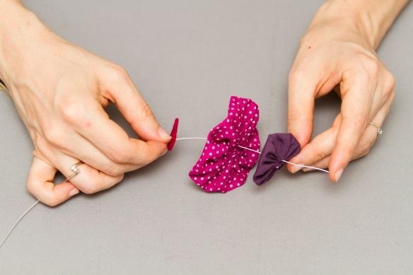 DIY Bouquet fleurs tissus