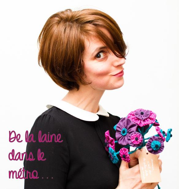 De la laine dans le métro DIY bouquet fleurs tissus