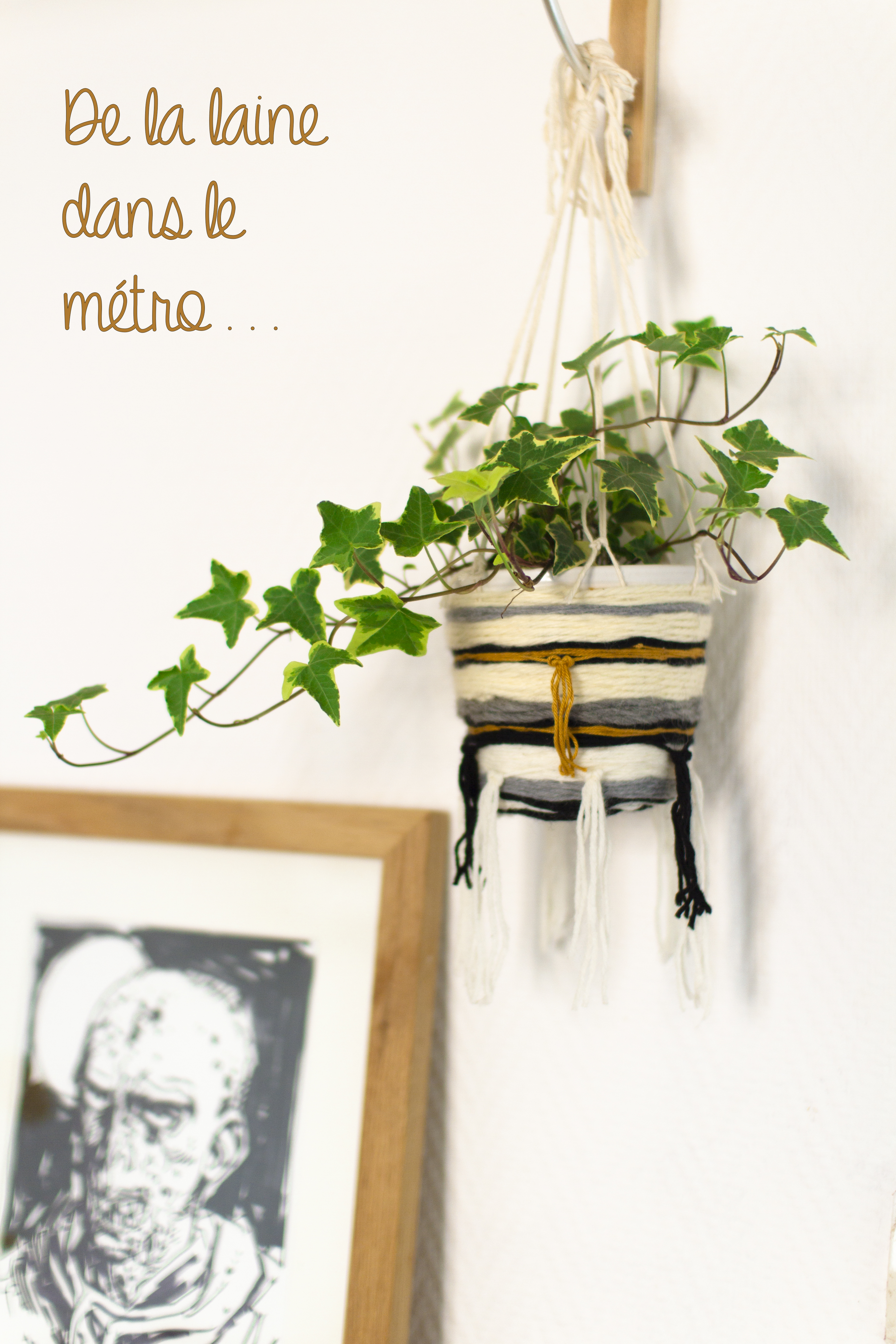 Suspension tiss e pour belles plantes de la laine dans le m tro - Suspension pour plantes ...